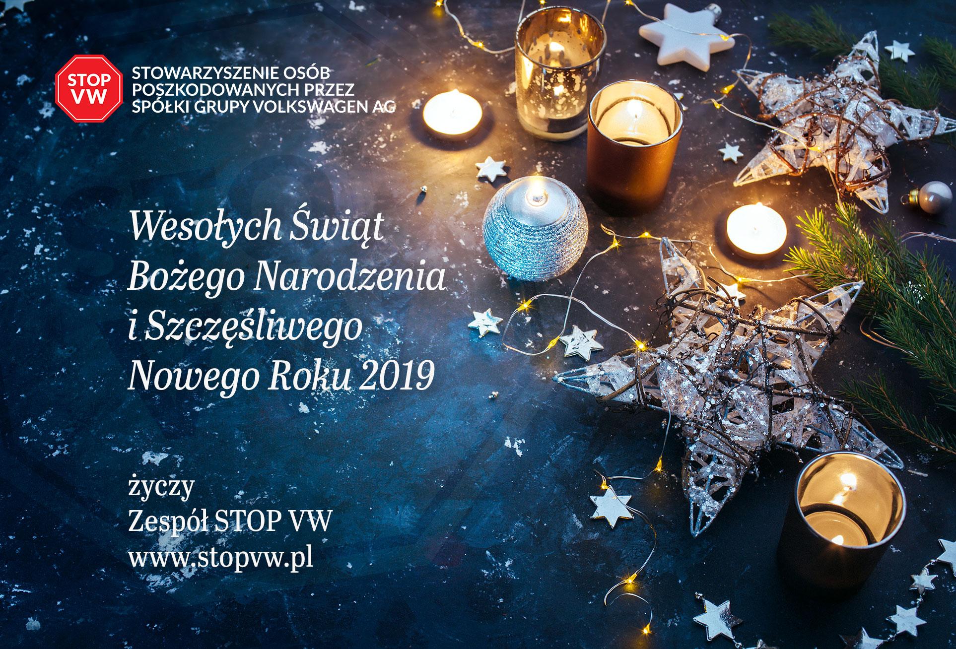 Wesołych świąt Bożego Narodzenia I Szczęśliwego Nowego Roku 2019
