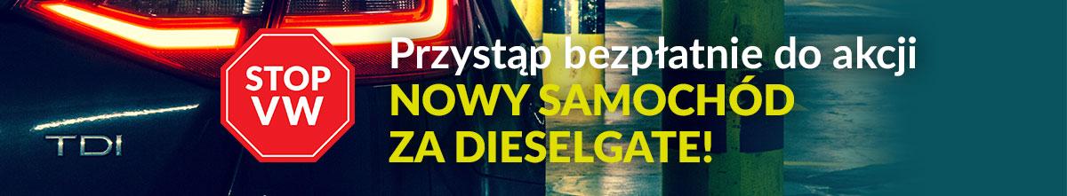 Przystąp bezpłatnie do akcji Nowy samochód za dieselgate!